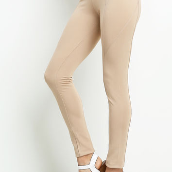 Jeggings With Zipper Accents