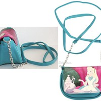 Licensed cool NEW Disney ALICE IN WONDERLAND Small Crossbody Bag Tote Purse Chain Strap 5X3X4