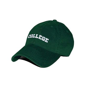College Needlepoint Hat in Hunter Green by Smathers & Branson