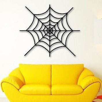 Wall Stickers Vinyl Decal Cobweb Spider Web Decor for Living Room Unique Gift (ig1335)