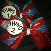 Thing 1 & Thing 2 Cheer Bows