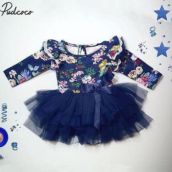 Tutu Dress for Toddler Baby Newborn Infant Autumn Long Sleeve Baby Girl Long Romper Dress Jumpsuit Clothes Outfits dresses