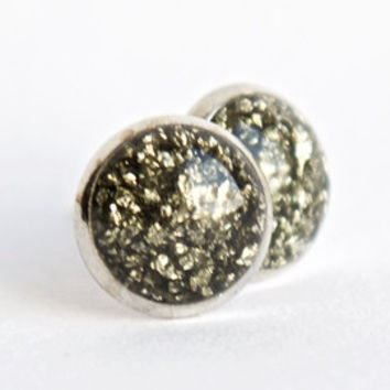 8mm Pyrite Earrings. Pyrite Stud Earrings. Rough Pyrite Stud Earrings. Raw Pyrite Studs. Raw Pyrite Stud Earrings. Rough Pyrite Studs.