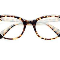 Clear Lens Cat Eye Wayfarer Glasses in Tortoise W402 | FREYRS - Sunglasses at Affordable Prices
