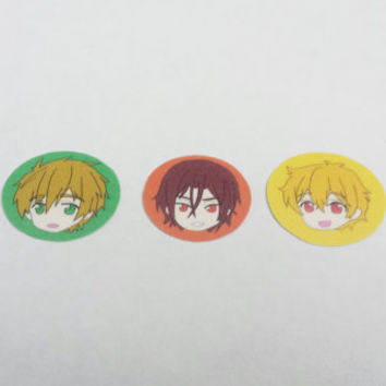 "Free! Iwatobi Swim Club ""Swimming Anime"" Chibi Sticker Set"