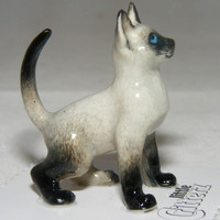 CAT SIAMESE Blaze Stands SUPER MINIATURE Porcelain LITTLE CRITTERZ Figurine LC906 [LC906] - $6.99 :
