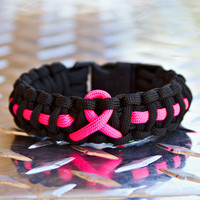 Pink Ribbon Breast Cancer Awareness Paracord Bracelet by TARCGear