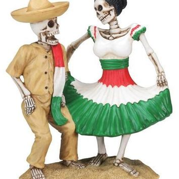 Day of the Dead Dancing Skull Couple Statue