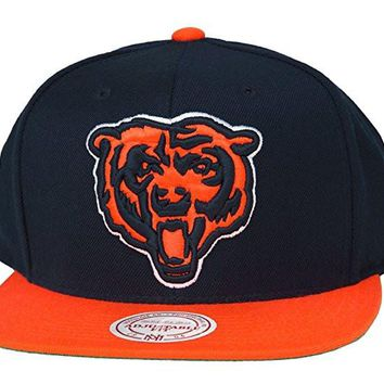 Chicago Bears Vintage Big Logo Snapback 2Tone Hat By Mitchell & Ness