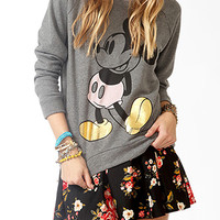 Contrast Mickey Mouse Sweatshirt