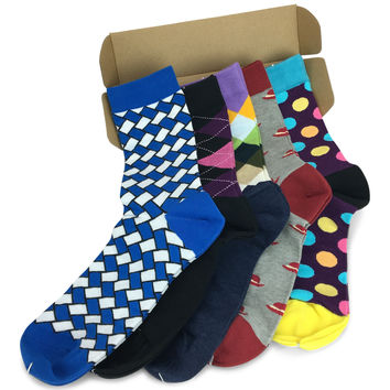 5 Pairs Men's Power Socks - Arch Creek
