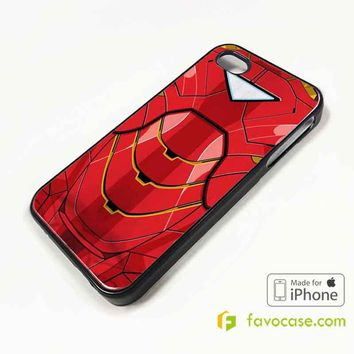 IRON MAN COSTUME Suite Avengers iPhone 4/4S 5/5S/SE 5C 6/6S 7 8 Plus X Case Cover
