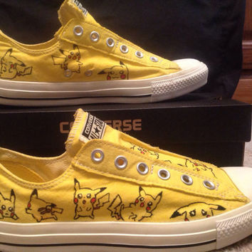 Custom Pikachu Canvas Shoes
