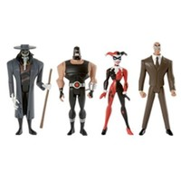 DC Universe Justice League Unlimited Exclusive Action Figure 4-Pack Gotham City Criminals (Clock King, Harley Quinn, Bane and Scarecrow)