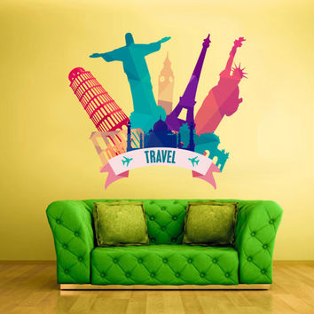 Full Color Wall Decal Vinyl  Mural Sticker Art Decor Bedroom Travel Sign Jesus Tower Statue (col542)