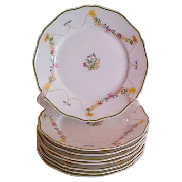 French Limoges Dessert Plates,  S/8