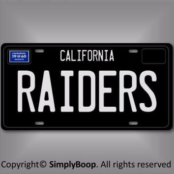 Oakland Raiders 1960 California NFL Football Team Aluminum Vanity License Plate