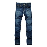 Mr. Wu 2013 New Spring Summer Easy Matching Classic Stylish Slim Straight Mens Casual Jeans Pants Free Shipping - DinoDirect.com