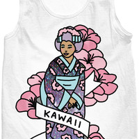 Geisha japan anime kawaii pastel hologram 90s otaku sailor moon tank