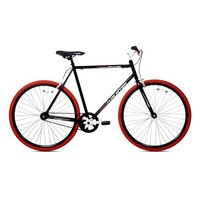 Kent Thruster 700C Men's Fixie Bike, Black/Red | Jet.com