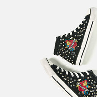 STUDDED HIGH-TOP SNEAKERS DETAILS