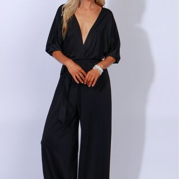 Wild About A Wide-Leg Jumpsuit Black