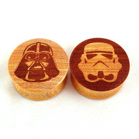 "Astral Wooden Plugs - 0g (8mm) 00g (9mm) (10mm) 7/16"" (11mm) 1/2"" (13mm) 9/16"" (14mm) 5/8"" (16mm) 11/16"" 3/4"" 7/8"" 1"" 1 1/8"" 1 1/4"""