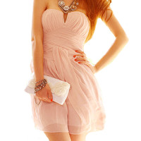 Pink ♡ Strapless Dress