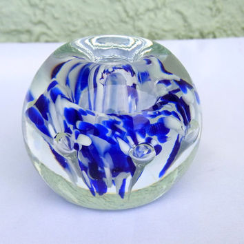 Vintage Glass Paperweight Kerry Zimmerman Collectible Glass Paperweight Gift Idea