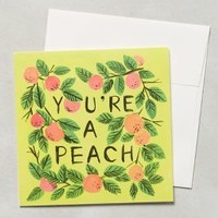 You're A Peach Card by Quill & Fox Dark Yellow One Size Gifts