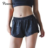Picemice Running Quick Dry Workout Training Bottom Women Breathable Overlay Gym Sports Shorts 2018 Sexy Camouflage Yoga Shorts