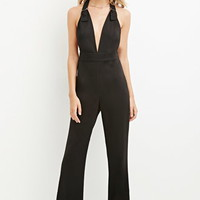V-Neck Crisscross-Back Jumpsuit
