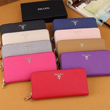 DCCK6HW Prada' Women Purse Simple Fashion Multifunction Zip Long Section Wallet Handbag