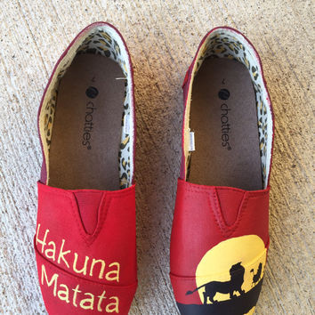 Hand-painted Lion King Shoes