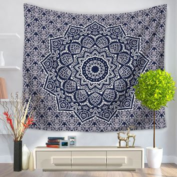 Hippie Tapestry Bohemia Bed Sheet 150x130cm 150x200cm Indian Polyester Soft Wall Carpet Mandala Tapestry Tenture Mural Tapiz