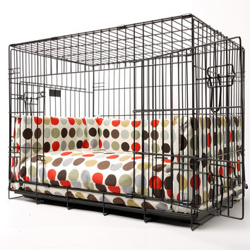 Dog Crate Mattress and Bed Bumper Set