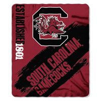 South Carolina Gamecocks NCAA Light Weight Fleece Blanket (Painted Series) (50inx60in)