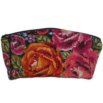 Huipil Floral Cosmetic Bag from Guatemala
