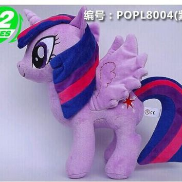 2016 Hot Sale Movies & TV 32cm Twilight Sparkle plush doll horse toy for birthday gift