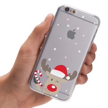 Curious Christmas Reindeer - Winter - Snow - Super Slim - Printed Case for iPhone - S056