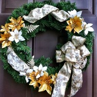 Christmas Door Wreath Floral Evergreen