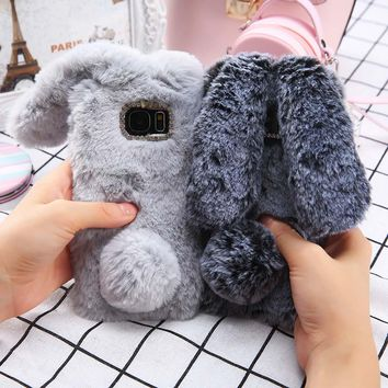 Fluffy-Rabbit Fur Cases