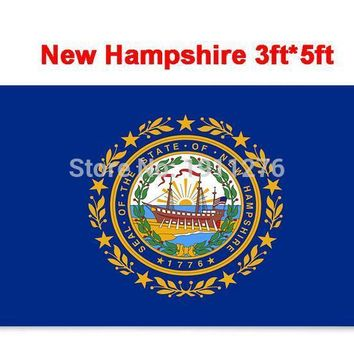 New fashion 90*150 cm United State American Banner State of  New Hampshire  flag Office/Activity/parade/Festival/Home Decoration