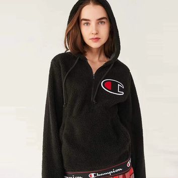 """ champion "" Women Lambs wool Hot Hoodie Cute Sweater"