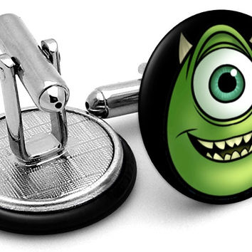 Monster Inc Mike Face Cufflinks