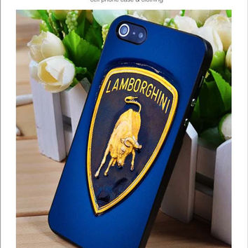Blue Lamborghini iPhone for 4 5 5c 6 Plus Case, Samsung Galaxy for S3 S4 S5 Note 3 4 Case, iPod for 4 5 Case, HtC One for M7 M8 and Nexus Case