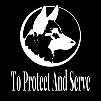 German Shepherd To Protect & Serve Tee