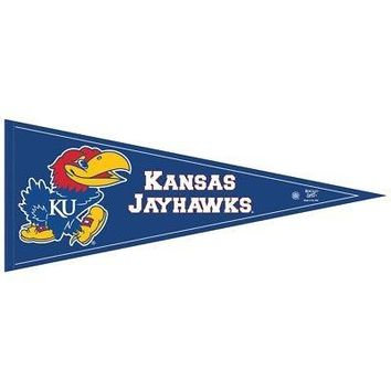 "Licensed Kansas Jayhawks Official NCAA 29"" Pennant KU by Wincraft KO_19_1"