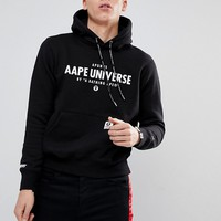 AAPE By A Bathing Ape Hoodie With Front Universe Logo at asos.com