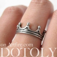 Royal Crown Princess Ring in Silver - Available in sizes 5 and 6 from Dotoly Love